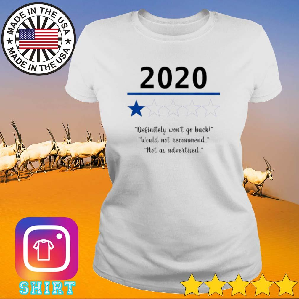2020 Definitely won't go back would not recommend not as advertised s Ladies Tee White