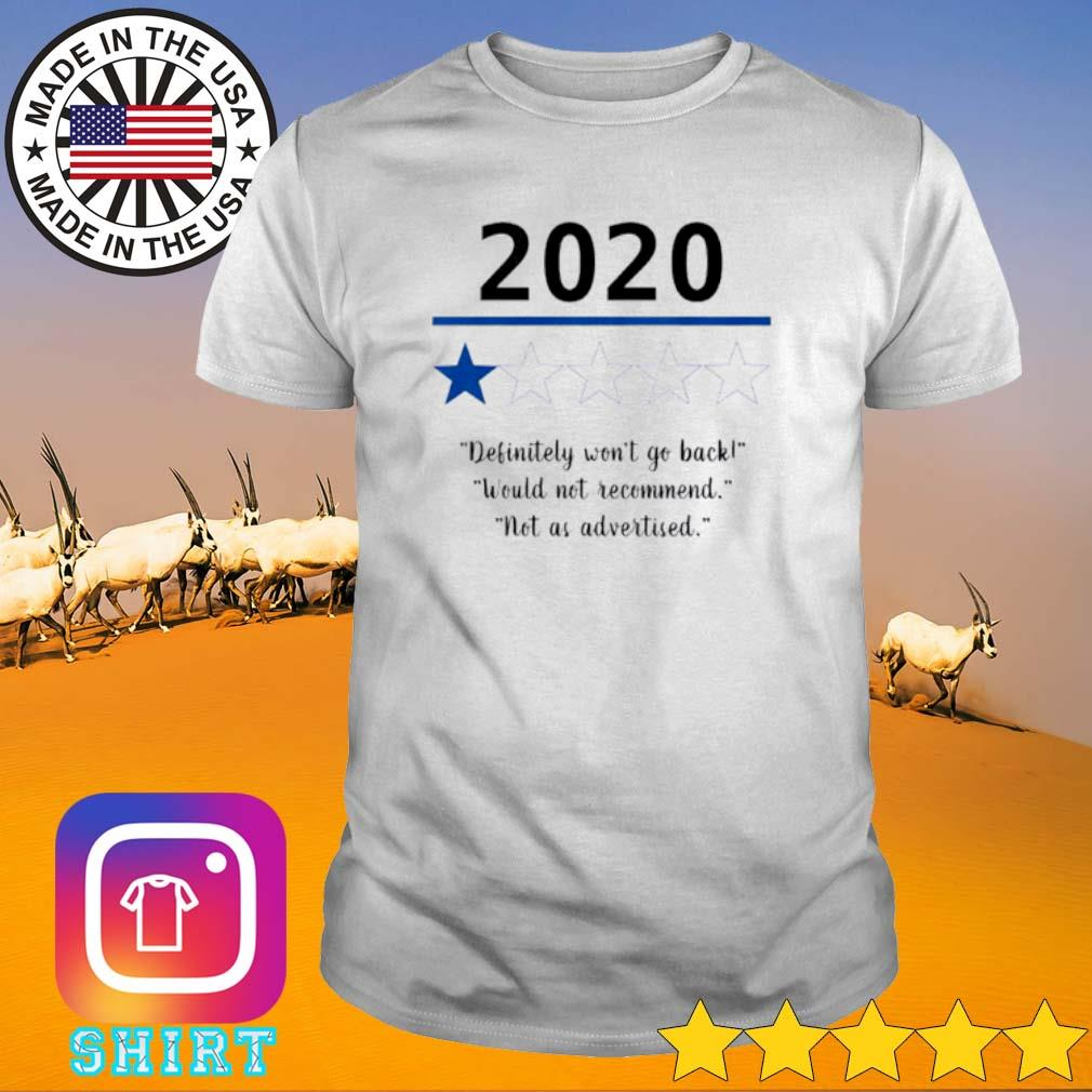 2020 Definitely won't go back would not recommend not as advertised shirt