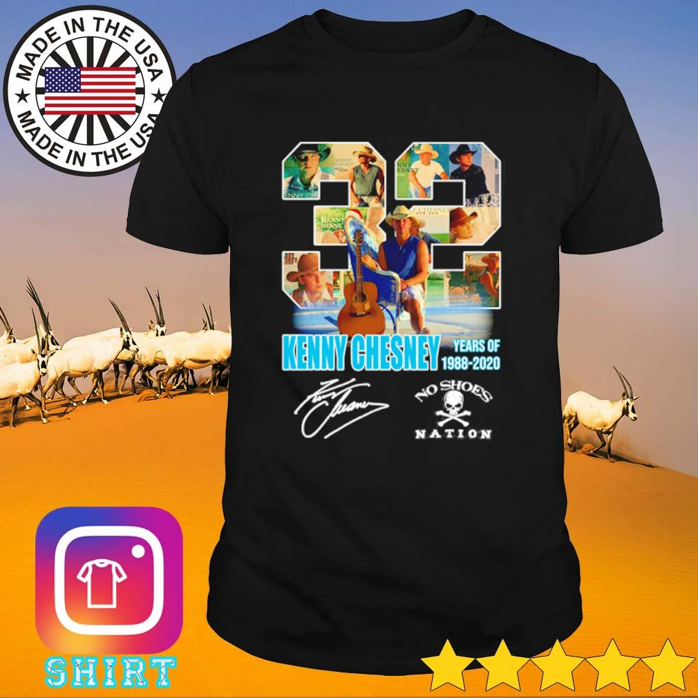 32 Years of Kenny Chesney 1988-2020 no shoes nation signature shirt