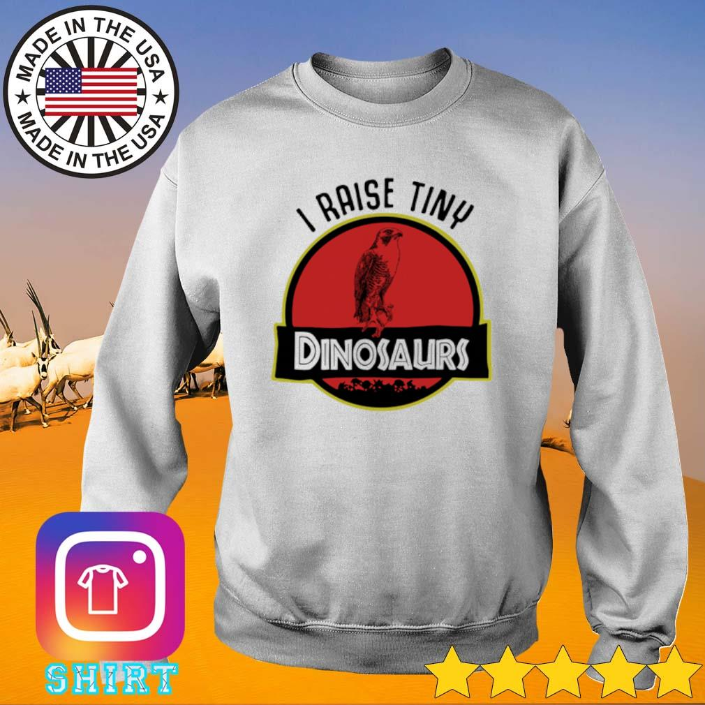 I raise tiny Bird Dinosaurs s Sweater White