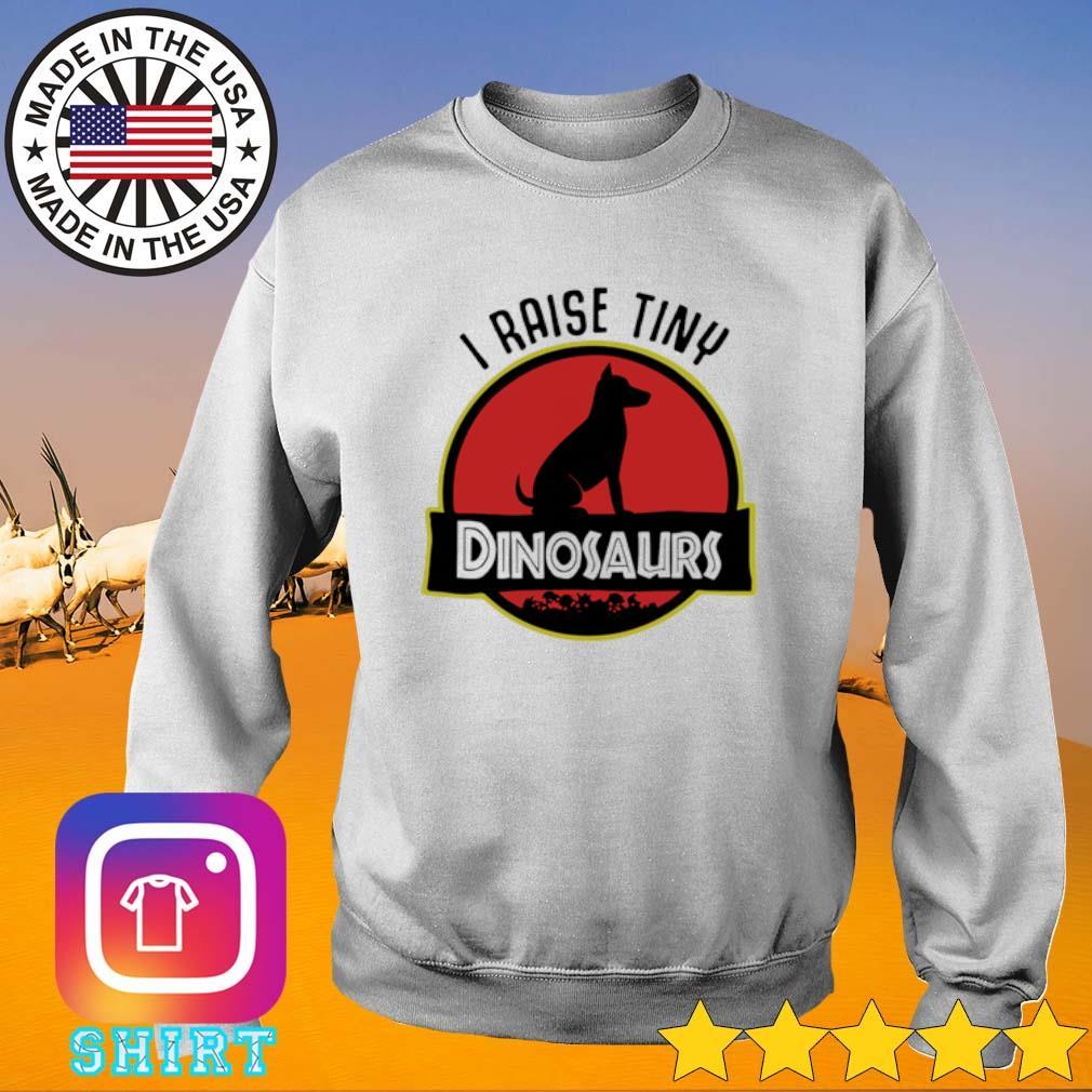 I raise tiny Dog Dinosaurs s Sweater White