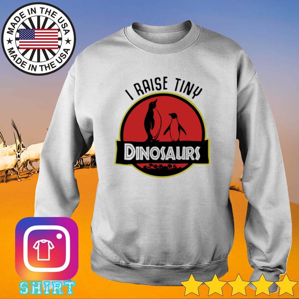 I raise tiny Penguin Dinosaurs s Sweater White