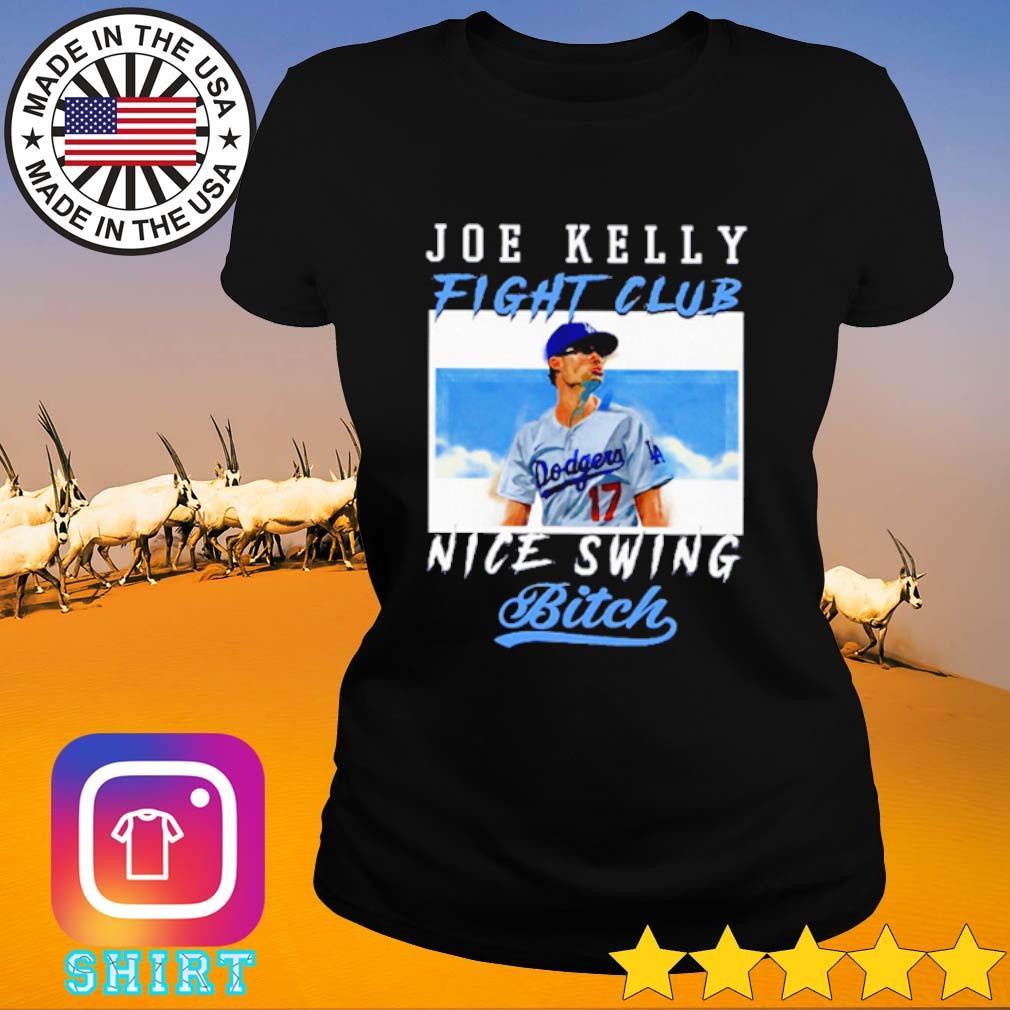 Joe Kelly Fight Club Nice Swing Bitch s Ladies Tee black
