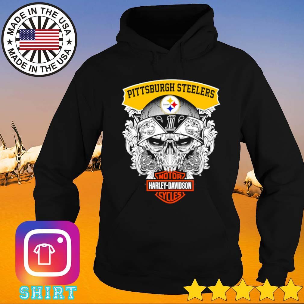 Skull Pittsburgh Steelers Motor Harley-Davidson Cycles s Hoodie black