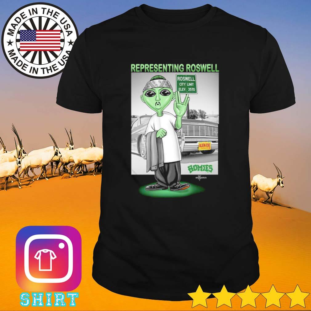 Aliens Representing roswell Homies shirt