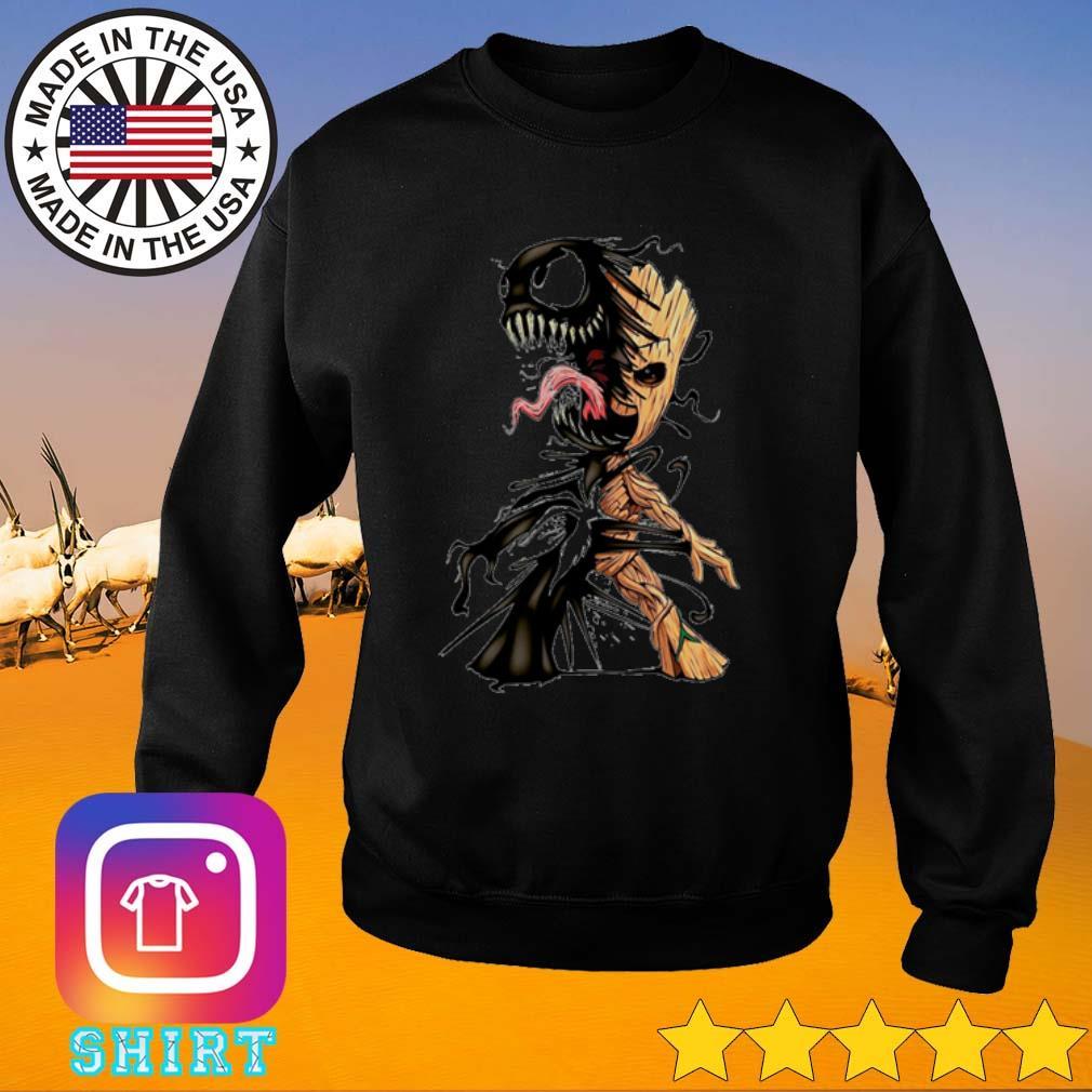 Baby groot and venom s Sweater black