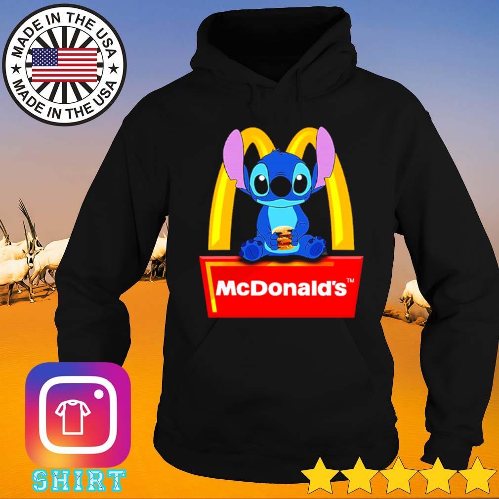 Disney Stitch loves Hamburger McDonald's s Hoodie black