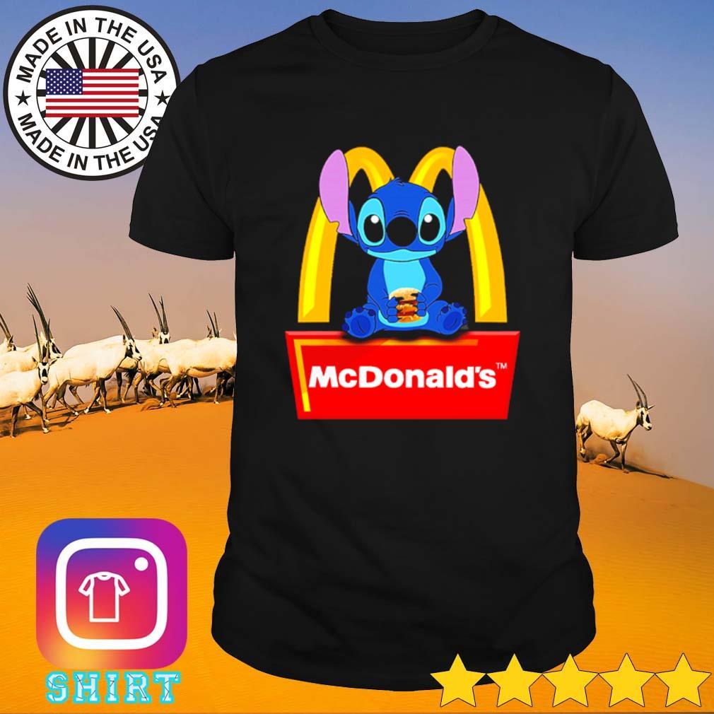 Disney Stitch loves Hamburger McDonald's shirt