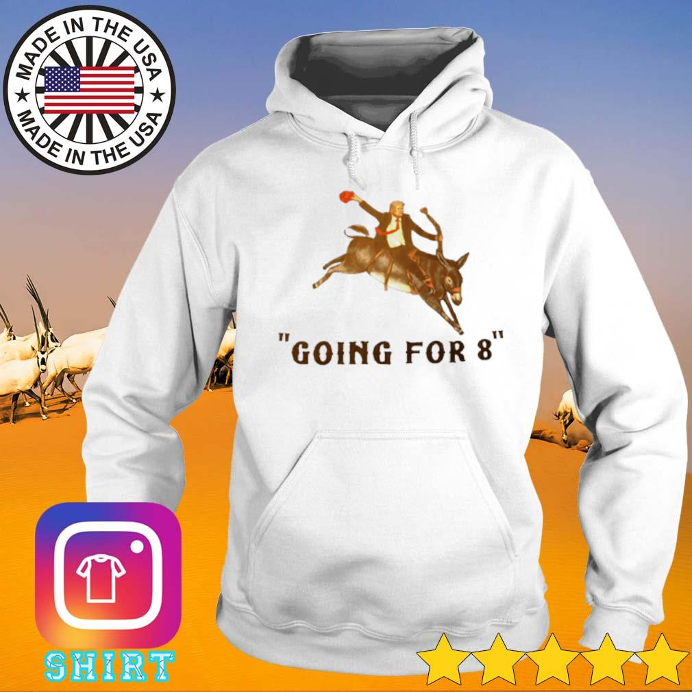 Donald Trump riding donkey going for 8 s Hoodie White