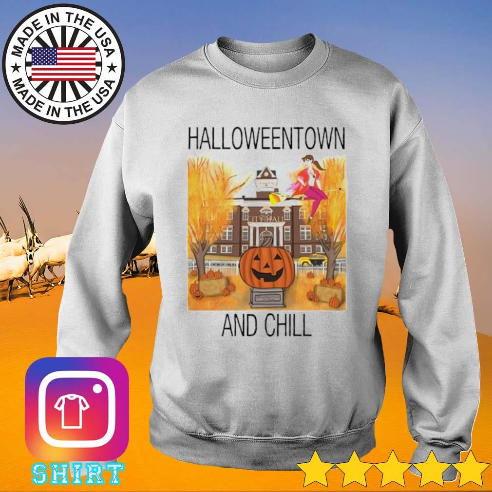 Halloweentown and chill s Sweater White