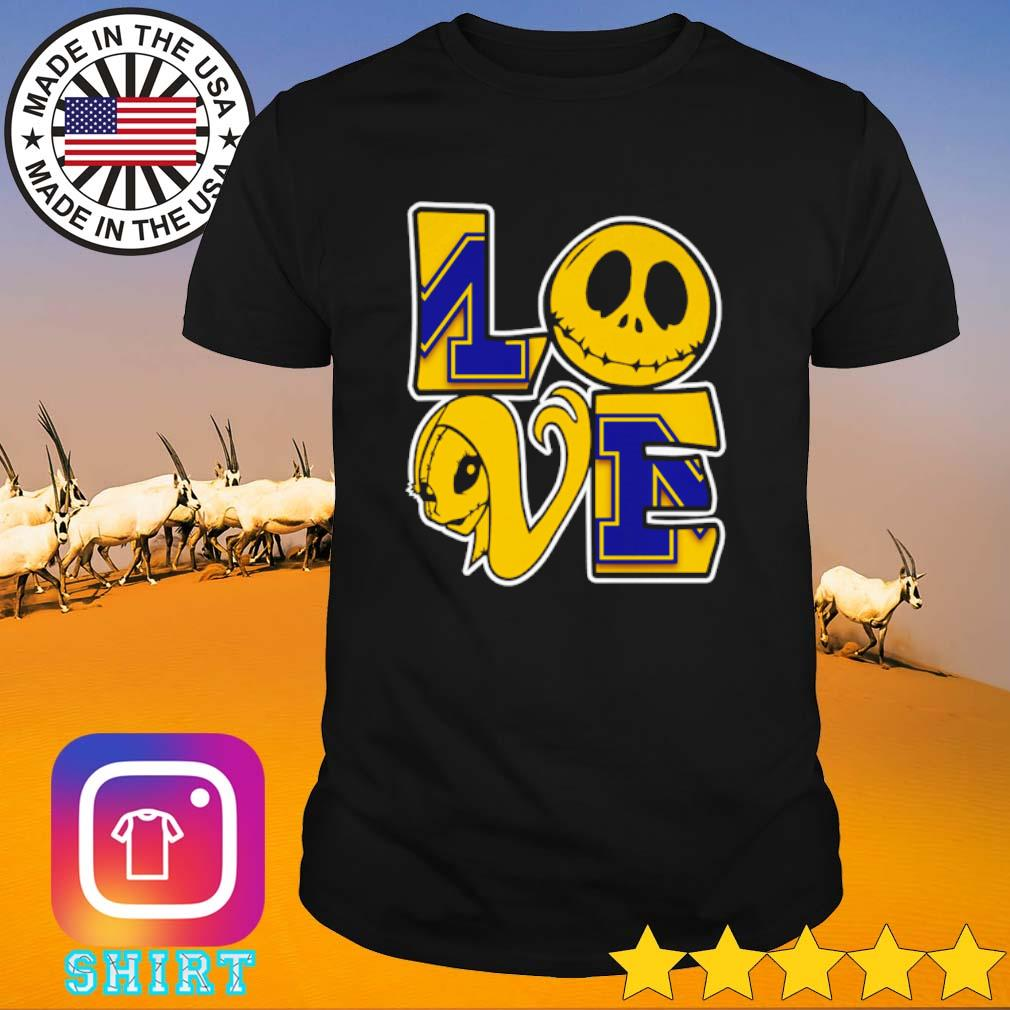 Jack Skellington and Sally love Michigan Wolverines shirt
