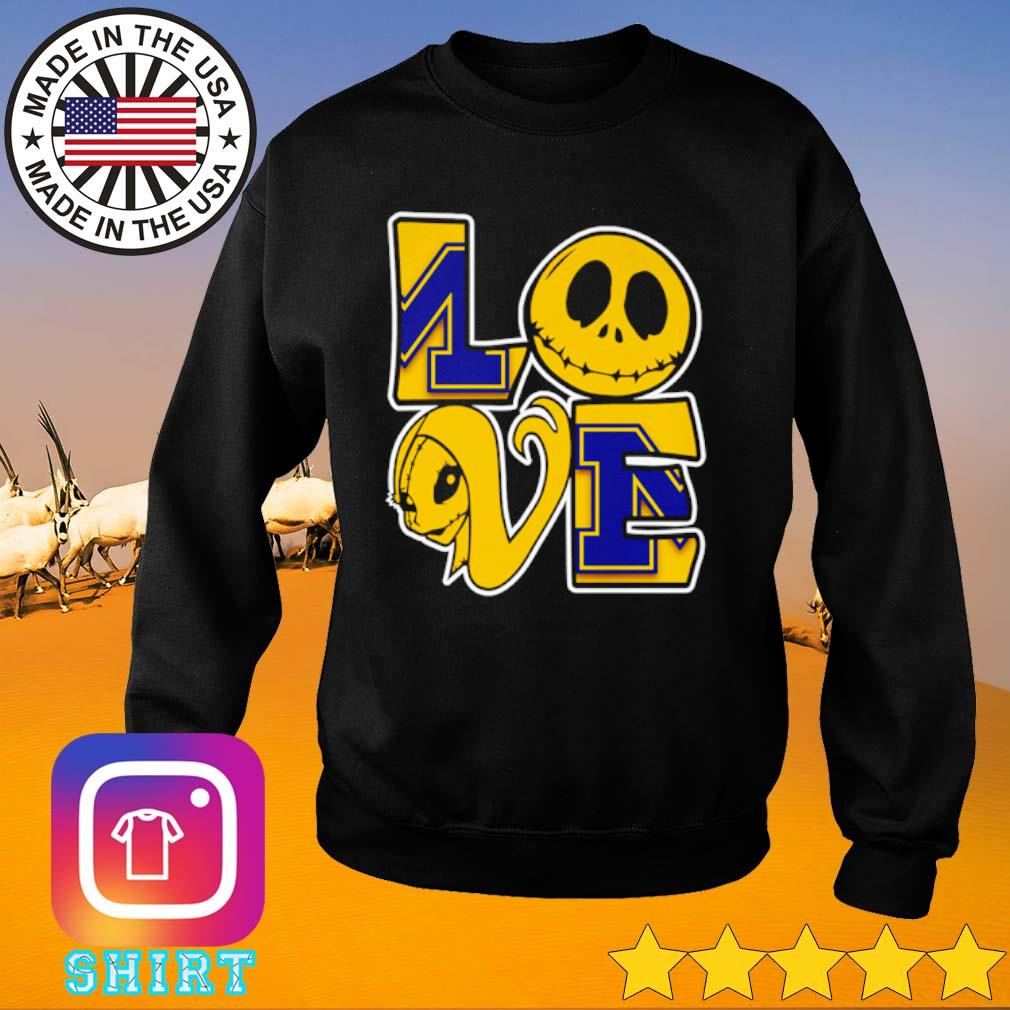 Jack Skellington and Sally love Michigan Wolverines s Sweater black