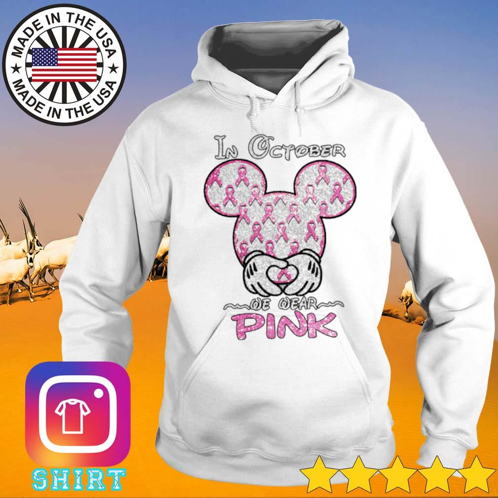 Mickey Mouse breast cancer In october we wear pink s Hoodie White