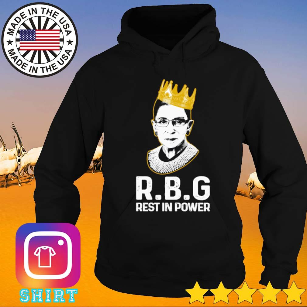 Ruth Bader Ginsburg R.B.G Rest in power s Hoodie black