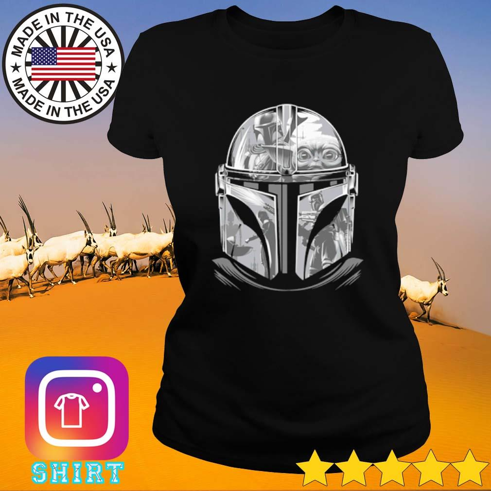 Star Wars The Mandalorian Helmet Mandalorian s Ladies Tee black