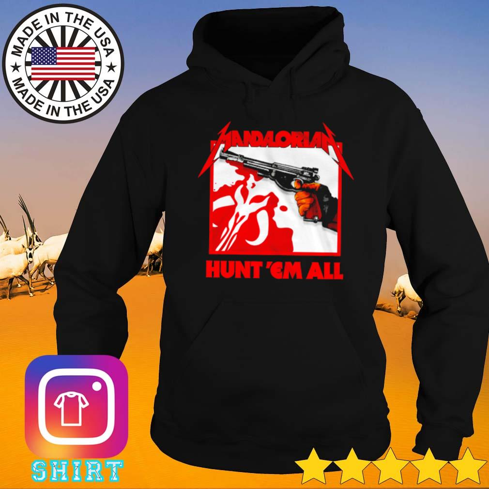 Star Wars The Mandalorian Hunt Em All s Hoodie black