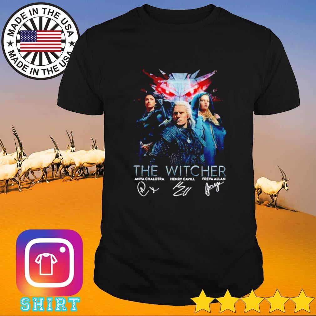 The Witcher all characters signatures shirt
