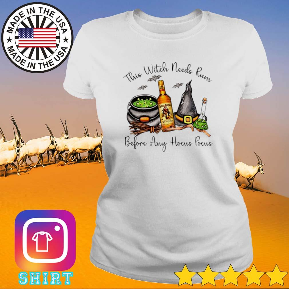 This witch needs Rum Captain Morgan before any Hocus Pocus s Ladies Tee White
