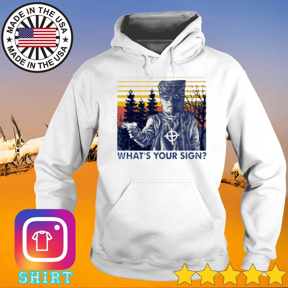 Vintage True Crime What's Your Sign s Hoodie White