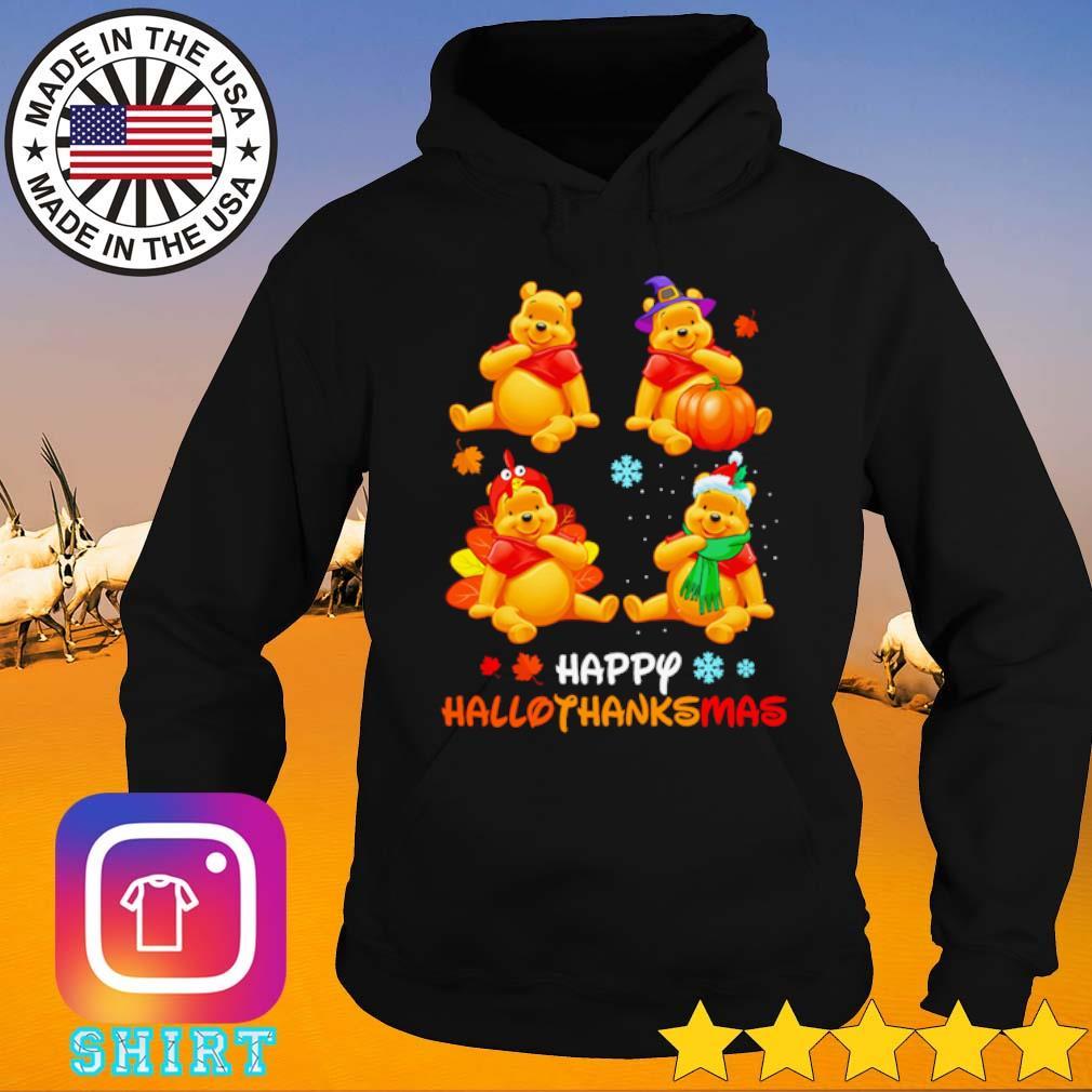 Winnie The Pooh Happy Hallothanksmas s Hoodie black