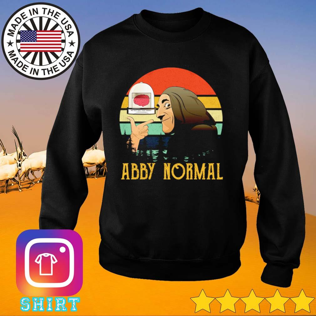 Young Frankenstein Abby Normal vintage s Sweater black