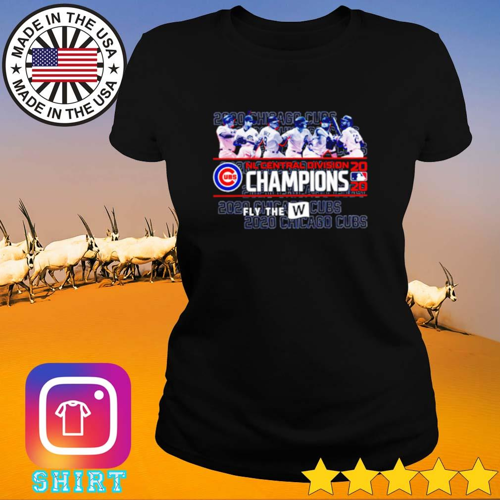 2020 Chicago Cubs NL Central division Champions s Ladies Tee black