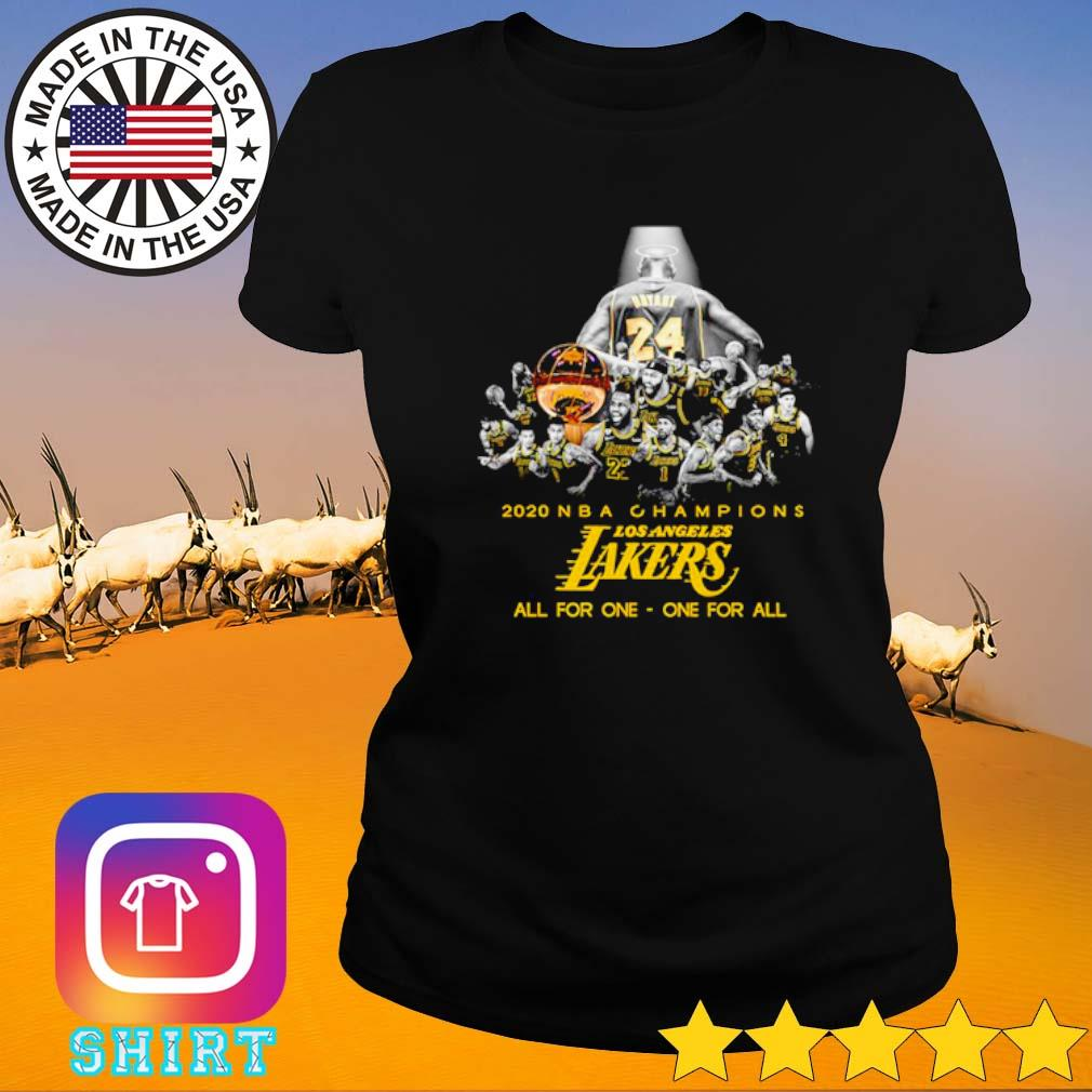 2020 NBA Champions Los Angeles Lakers all for one one for all s Ladies tee