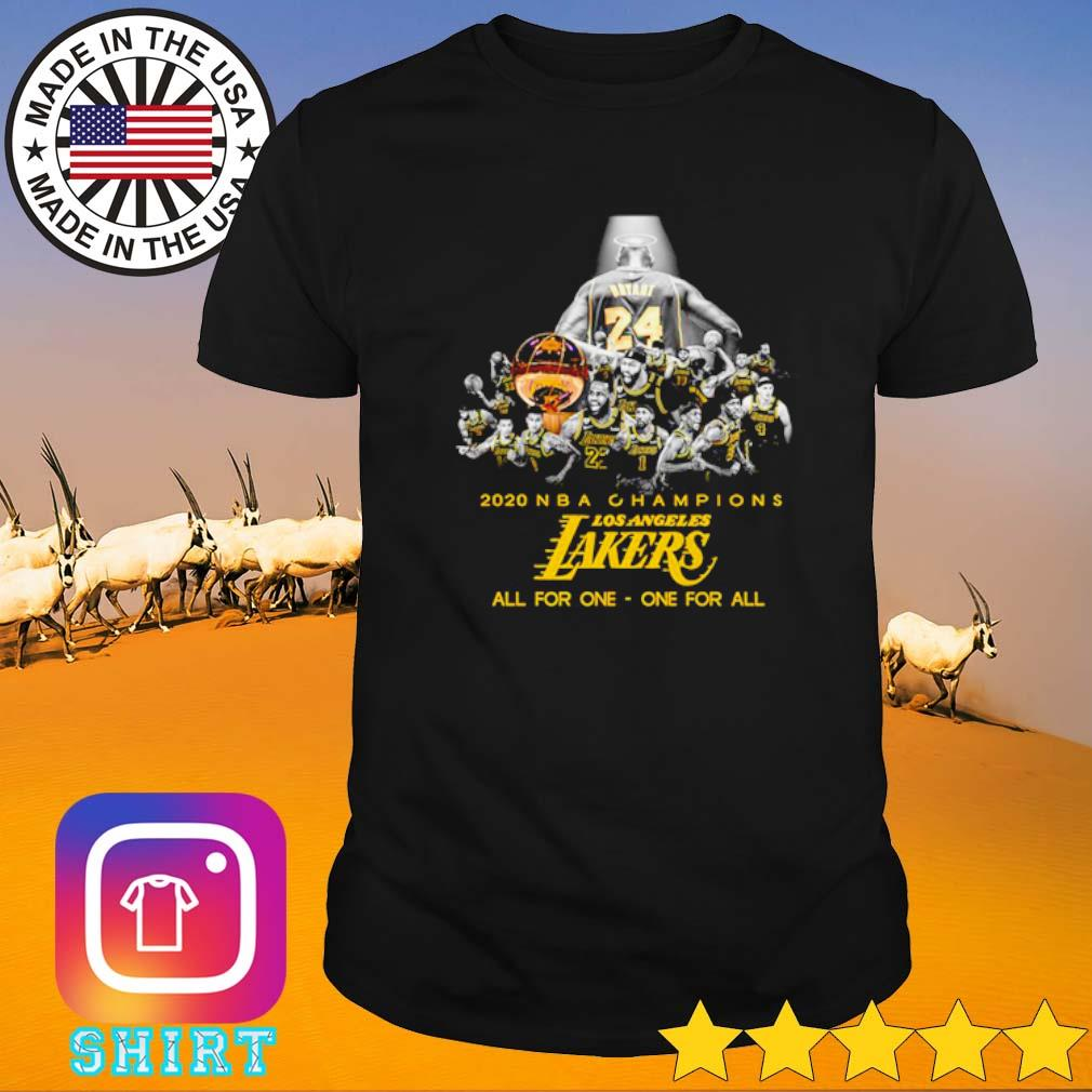 2020 NBA Champions Los Angeles Lakers all for one one for all shirt
