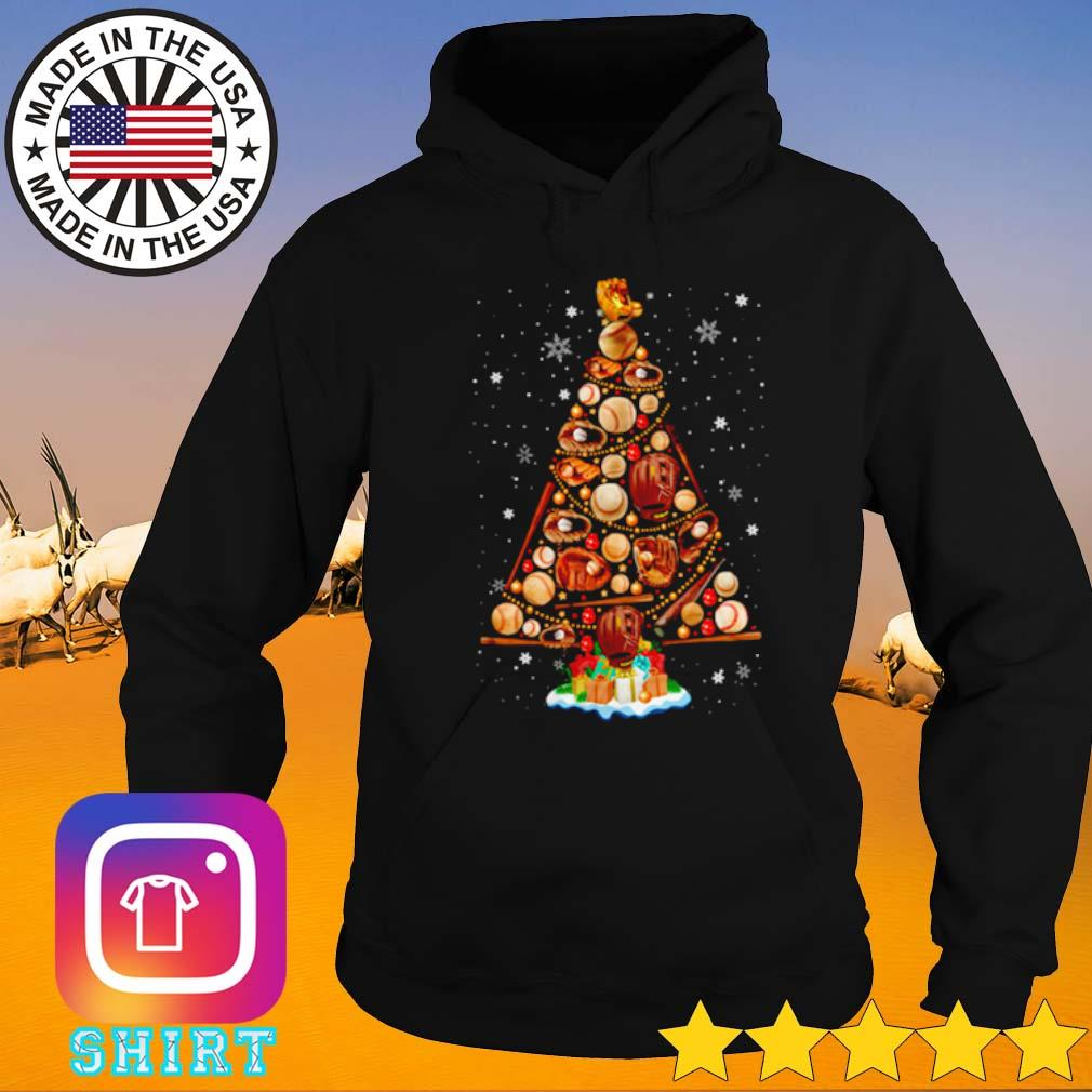 Christmas tree baseball s Hoodie black