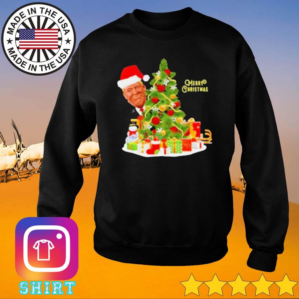 Donald Trump Merry Christmas tree sweater