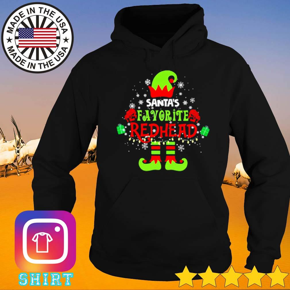 Elf Santa's favorite redhead Christmas sweater Hoodie