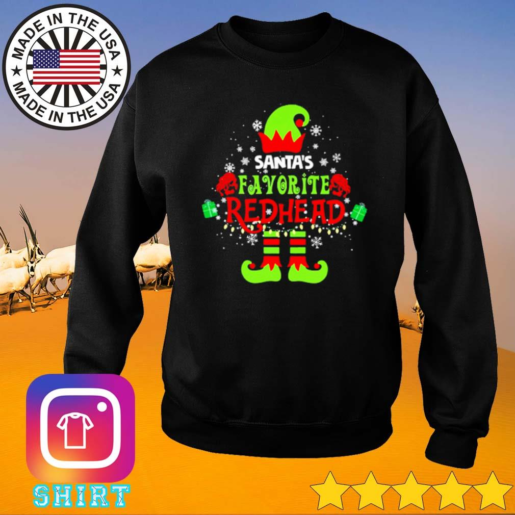 Elf Santa's favorite redhead Christmas sweater