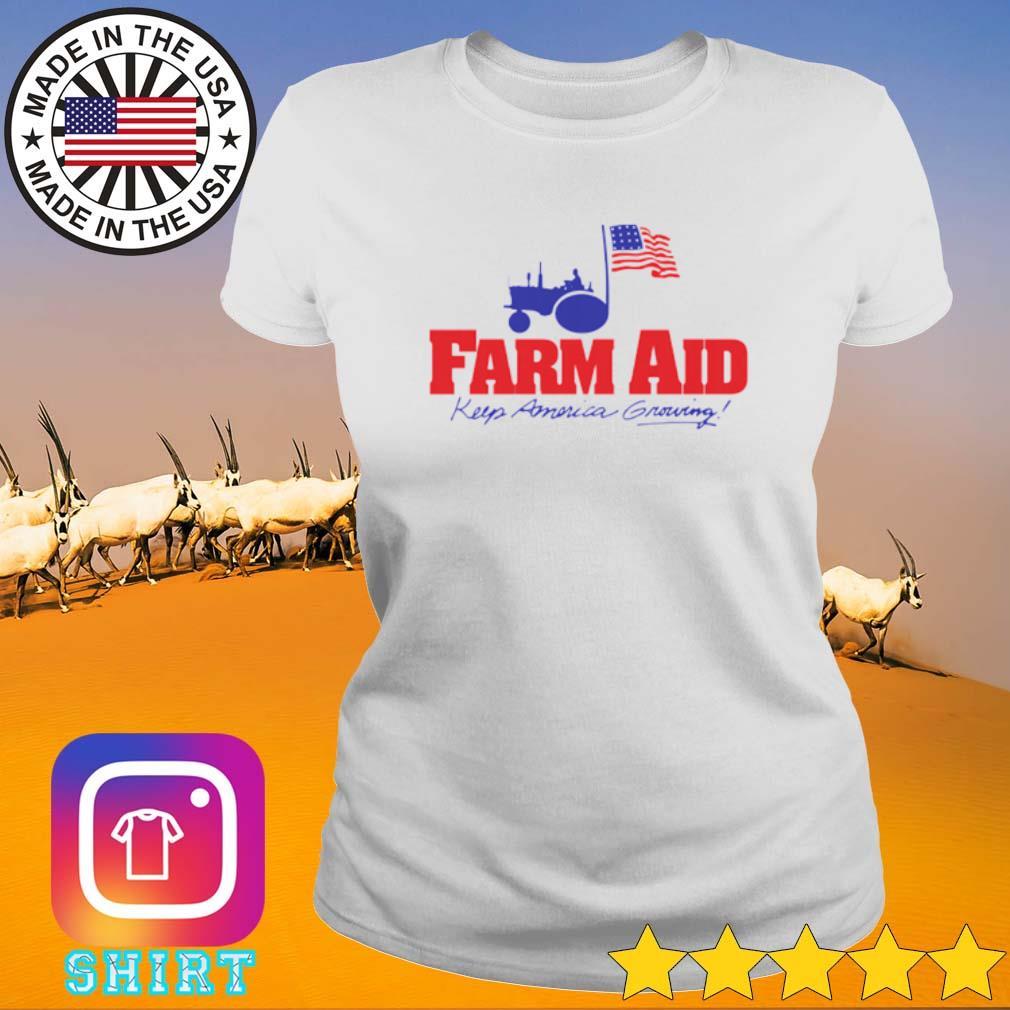 Farm aid keep America growing s Ladies Tee White