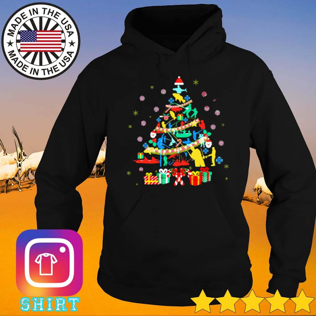 Fishing Christmas tree sweater Hoodie