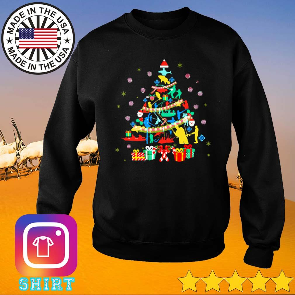 Fishing Christmas tree sweater