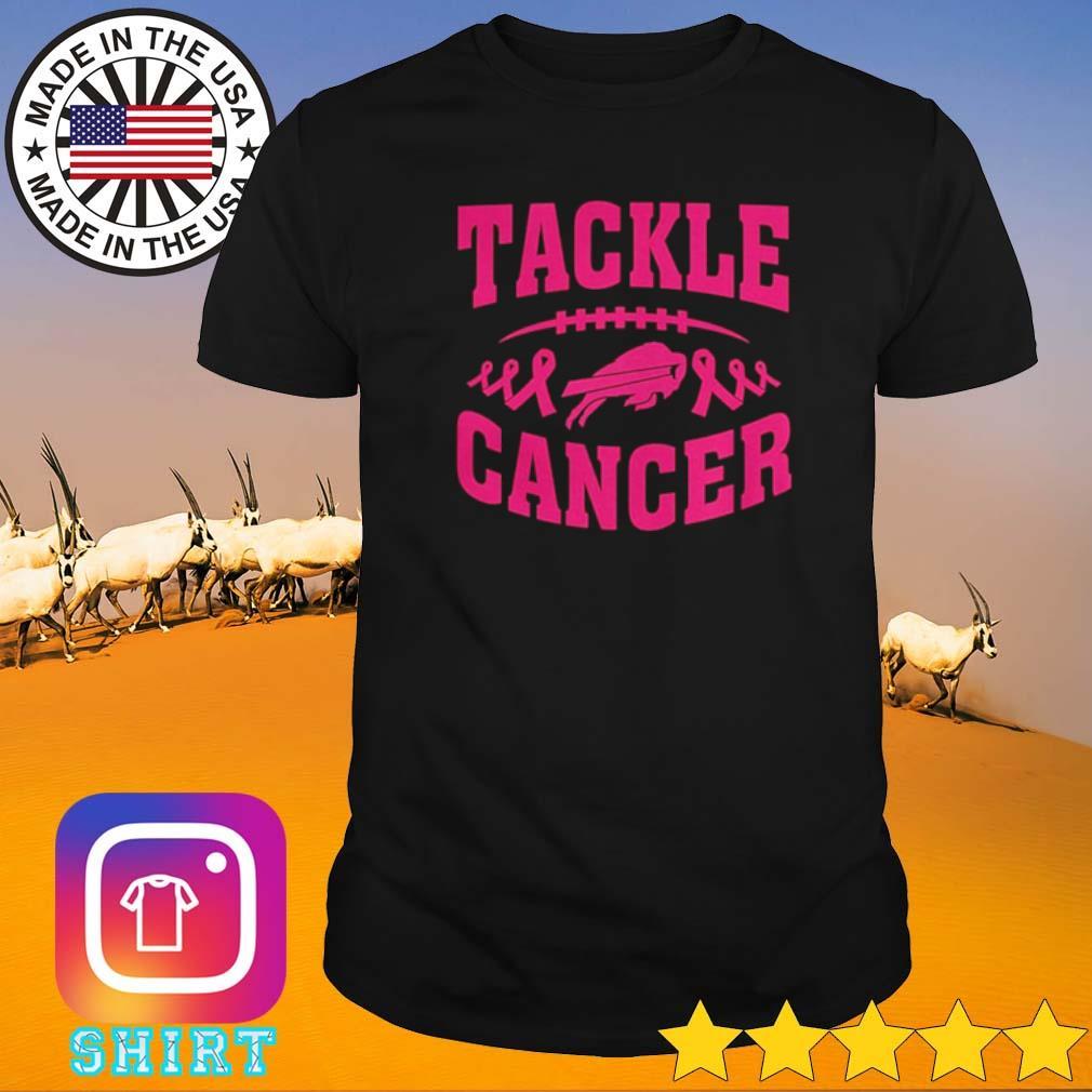 Football breast cancer awareness tackle cancer shirt