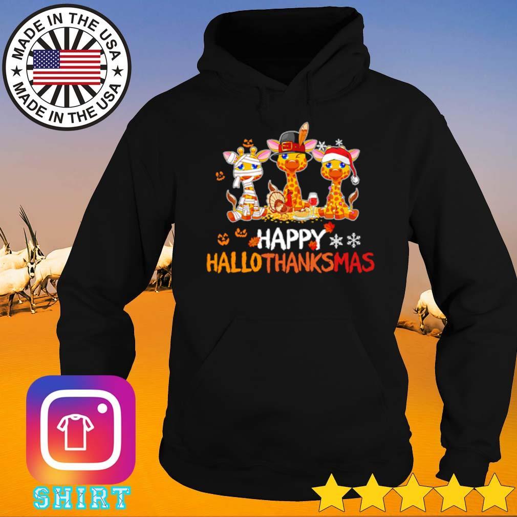 Giraffe happy Hallothanksmas s Hoodie
