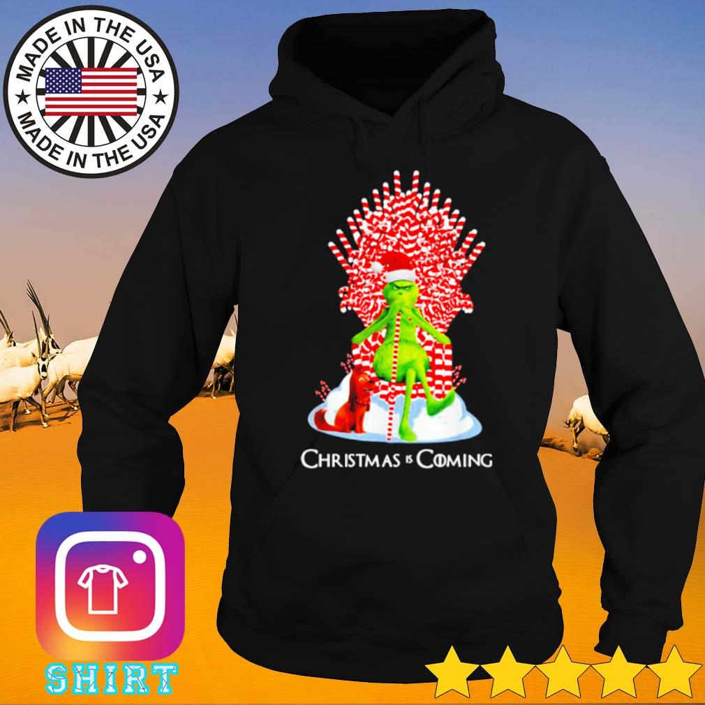 Grinch and guard dog scene Christmas is coming sweater Hoodie