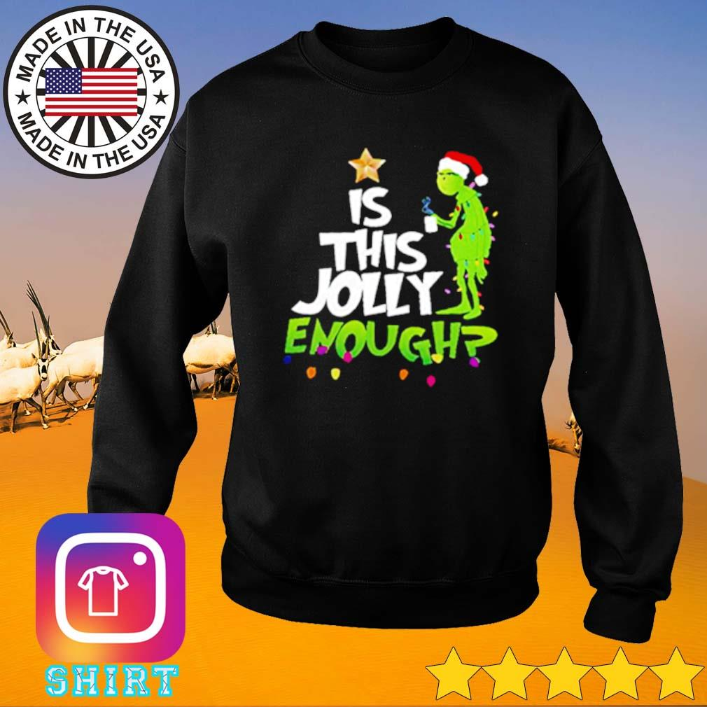 Grinch Santa is this Jolly enough Christmas sweater