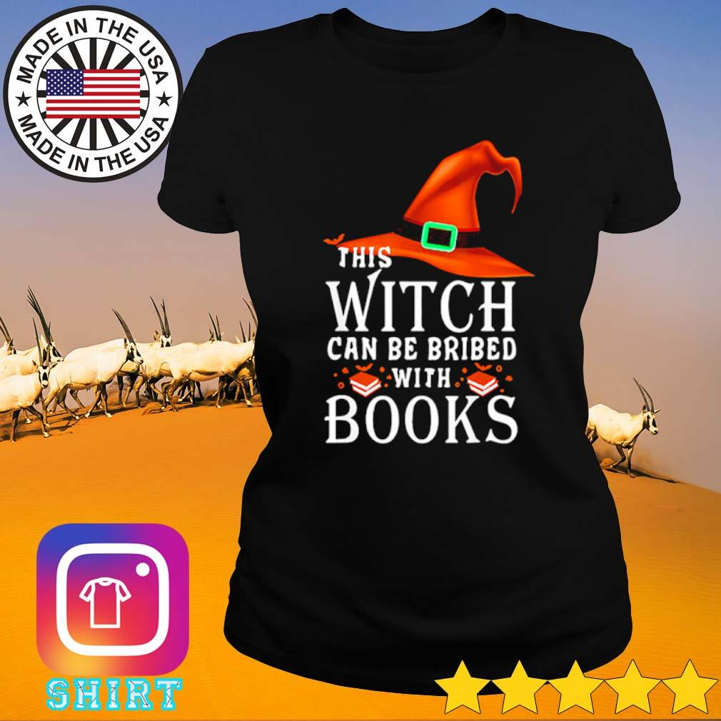 Halloween this witch can be bribed with books s Ladies tee