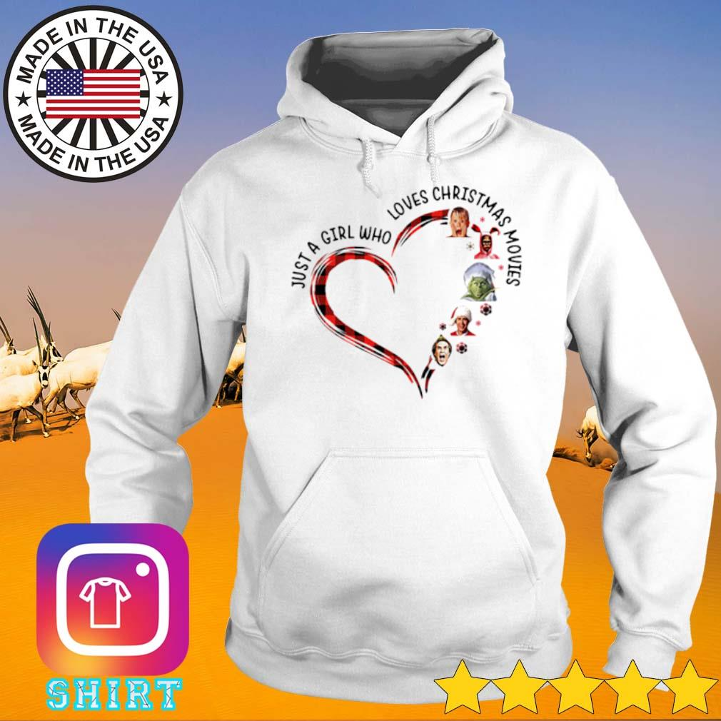 Heart just a girl who loves Elf Christmas movies sweater Hoodie