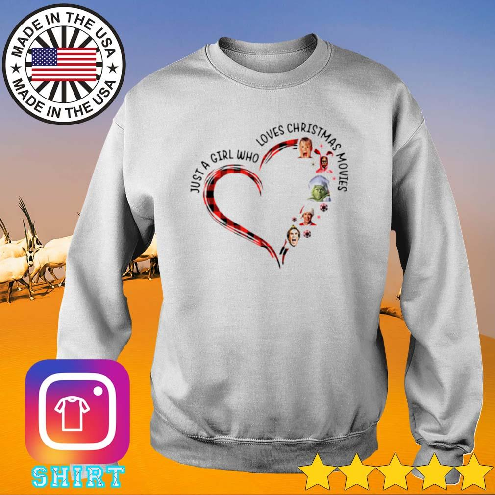 Heart just a girl who loves Elf Christmas movies sweater