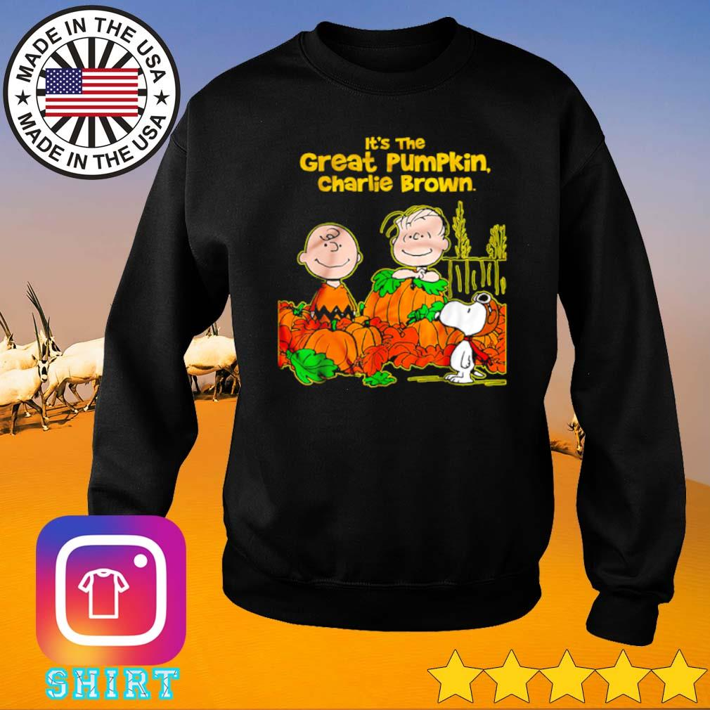 It's the great pumpkin Charlie Brown the Peanuts movie Halloween shirt