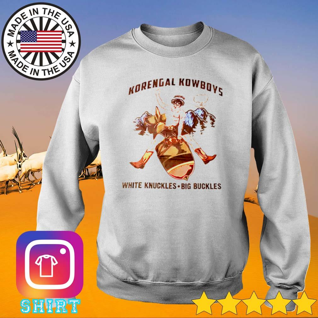 Korengal Kowboys white knuckles big buckles s Sweater