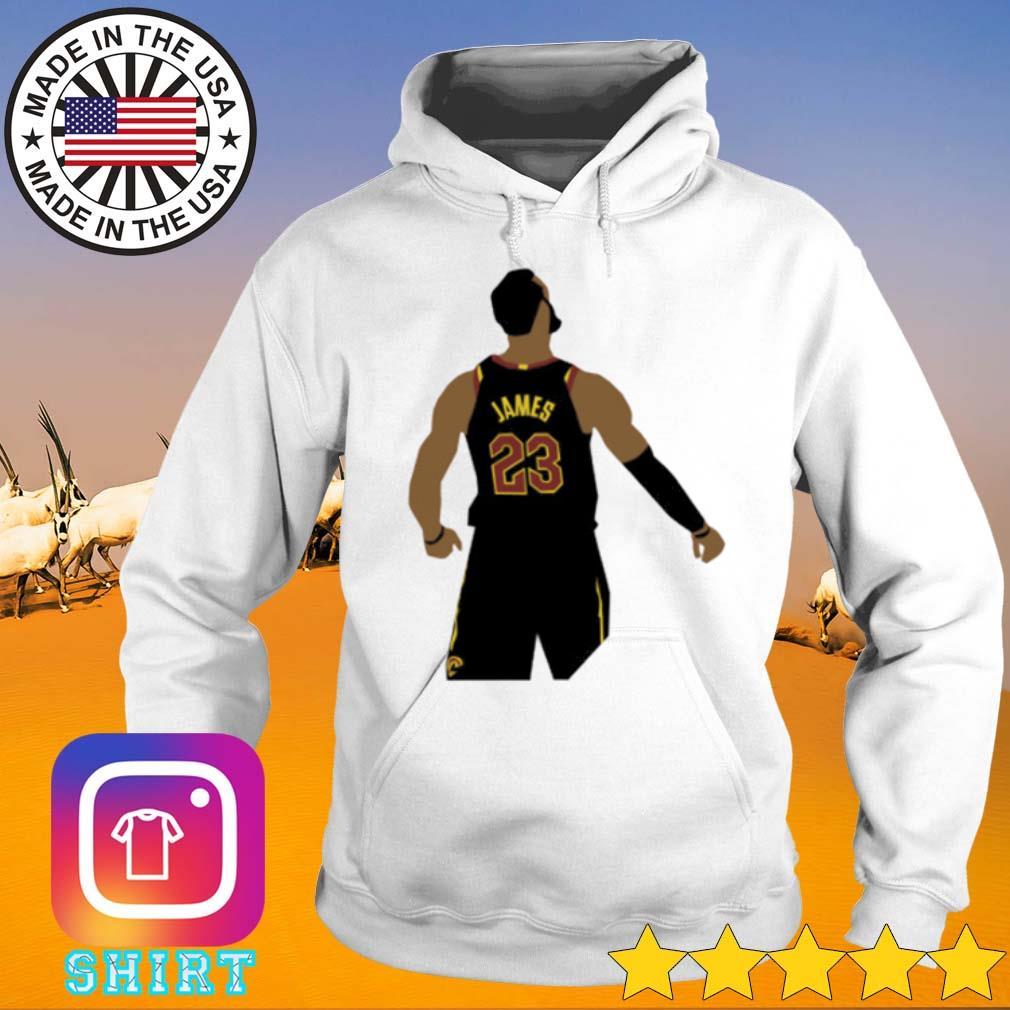 LeBron James wearing #23 the back s Hoodie