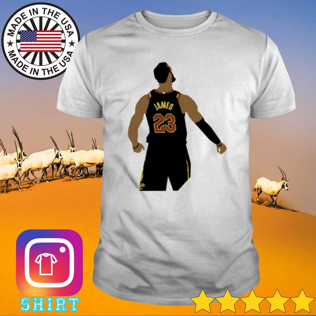 LeBron James wearing #23 the back shirt
