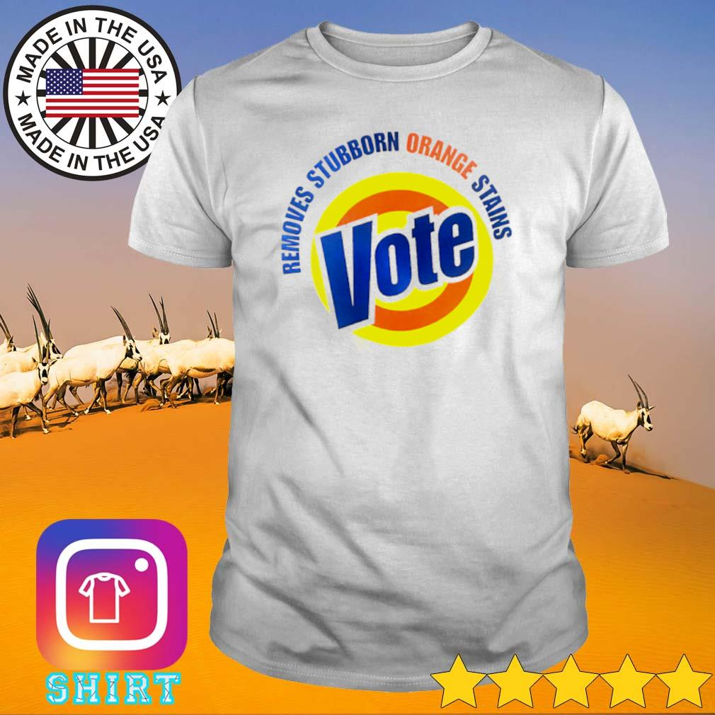 Official vote removes stubborn orange stains shirt