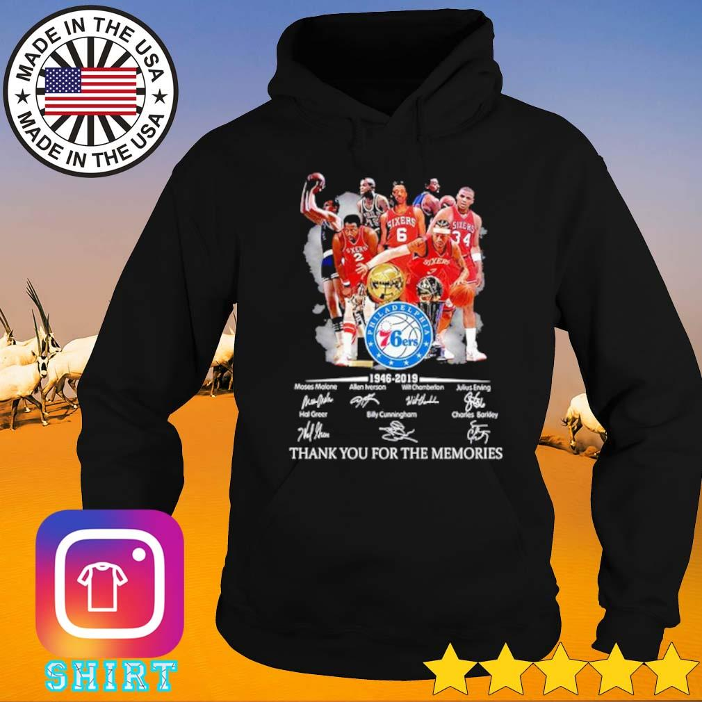 Philadelphia 76ers 1946-2019 thank you for the memories team players signatures s Hoodie