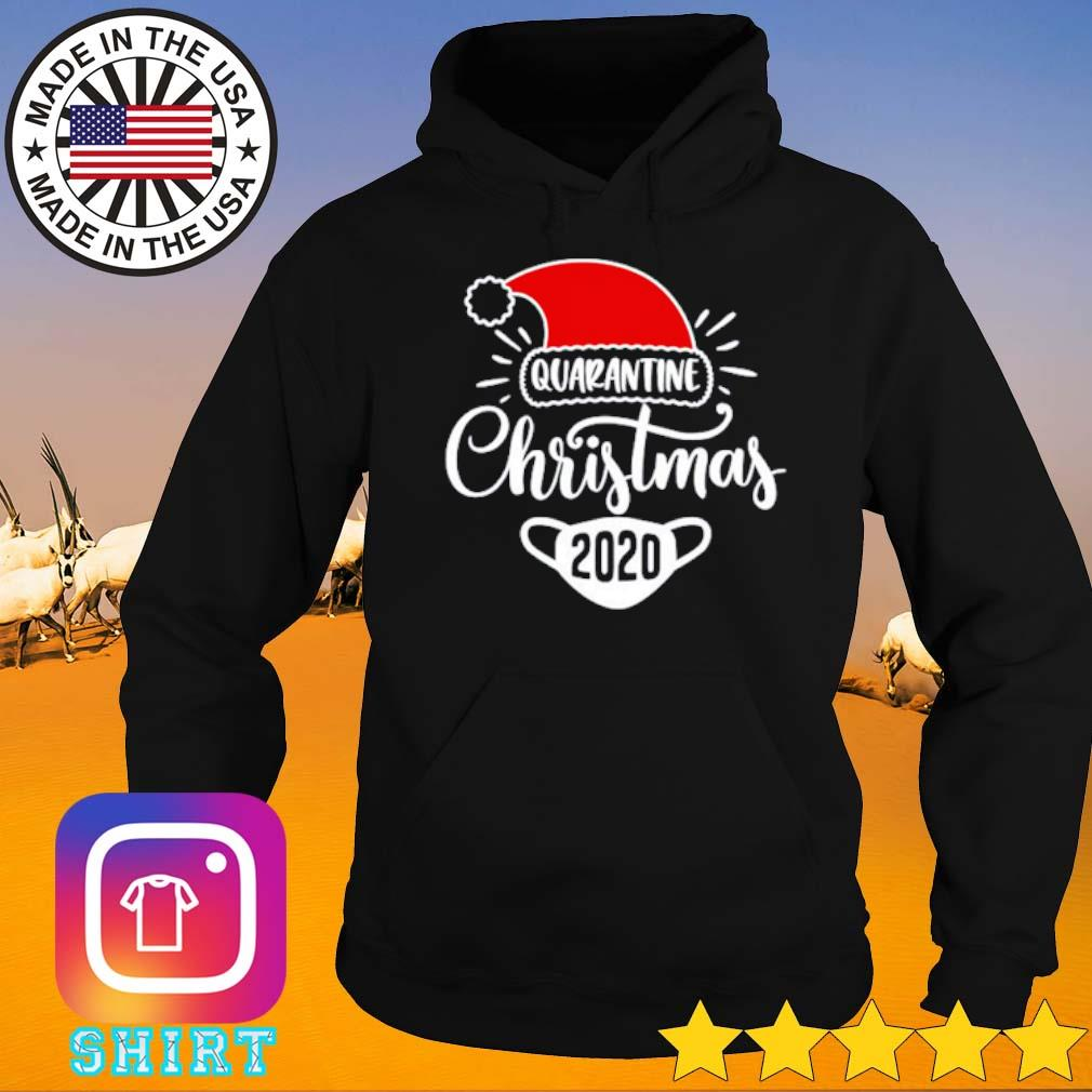 Santa hat Quarantine Christmas 2020 sweater Hoodie