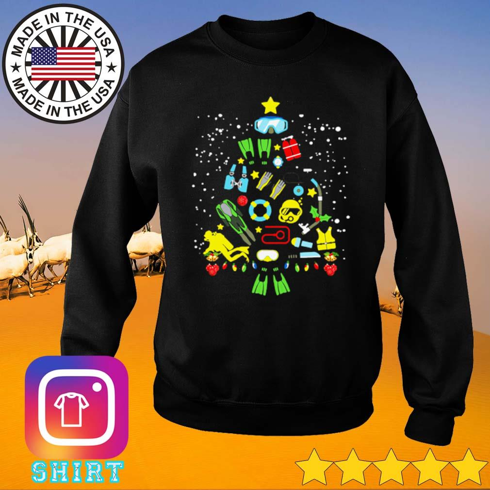 Scuba diving Christmas sweater